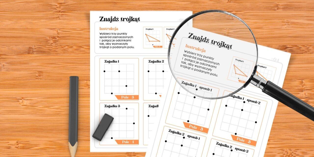 Znajdź trójkąt – łamigłówka, w której pole (popisu) ma trójkąt