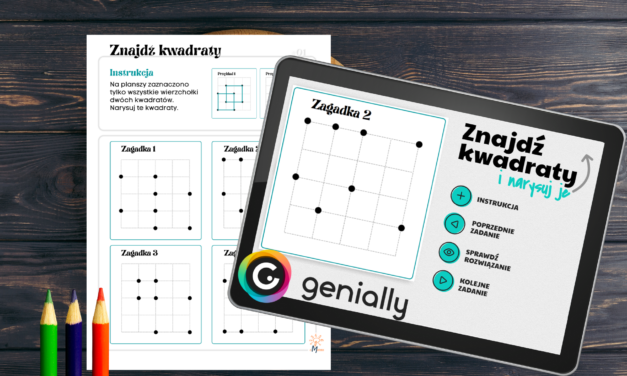 Znajdź kwadraty – łamigłówka dla tych co lubią łączyć kropki